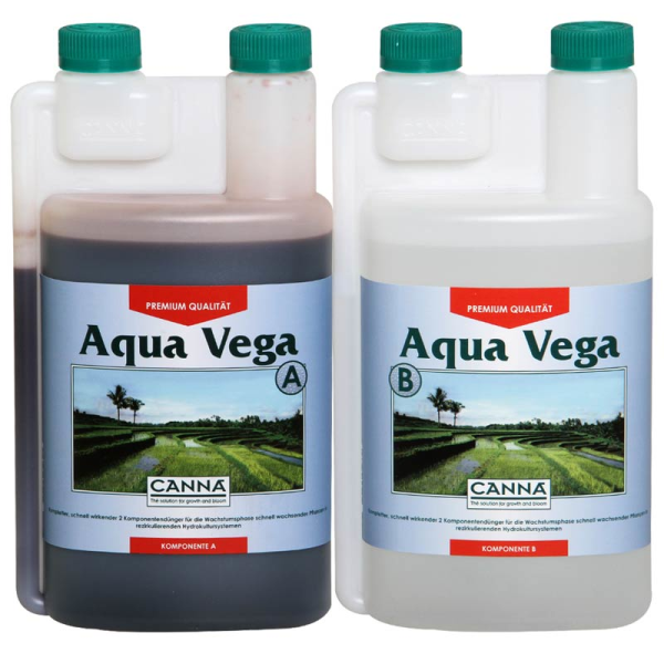 Canna Aqua Vega A+B je 1L Wachstumsdünger für rezirkulierende Wassersysteme