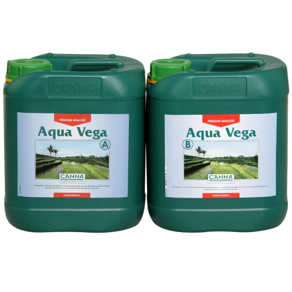 Canna Aqua Vega A+B je 10L Wachstumsdünger für rezirkulierende Wassersysteme