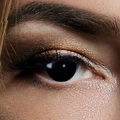 Farbig Schwarz Kontaktlinsen 3 Monate Black Witch...