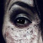 Farbig Schwarz Kontaktlinsen 3 Monate Black Witch Halloween Zombie Vampir