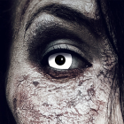 Farbig Weiß Kontaktlinsen 3 Monate White Zombie Halloween Zombie Vampir
