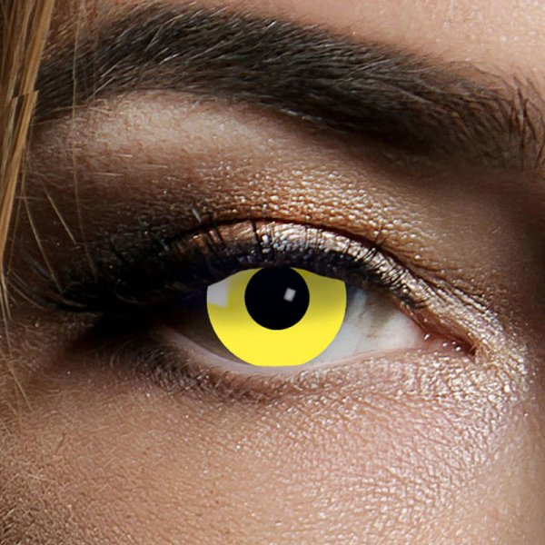 Farbig Gelb Kontaktlinsen 3 Monate Yellow Halloween Zombie Vampir