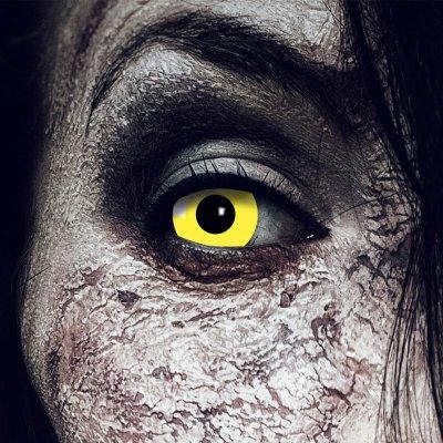 Farbig Gelb Kontaktlinsen 3 Monate Yellow Halloween...