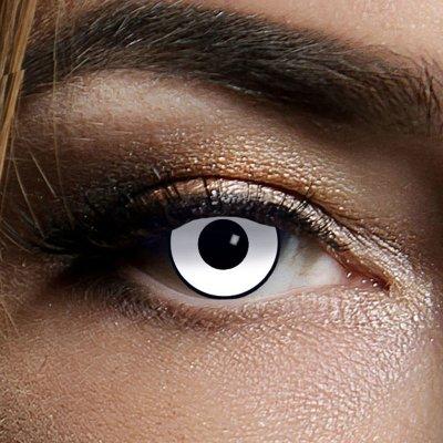 Farbig Weiß-Schwarz Kontaktlinsen 3 Monate White...