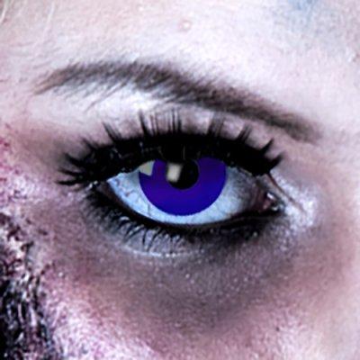 Farbig Blau Kontaktlinsen 3 Monate Blue Elf Halloween...