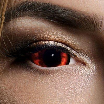 Kontaktlinsen Red Demon Sclera 6 Monate, Halloween Zombie...