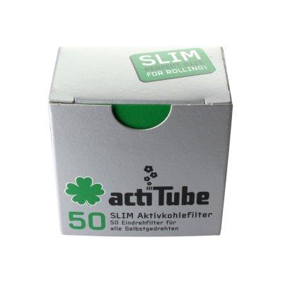Aktivkohlefilter - 6,9 mm 50 Stk von actiTube Slim