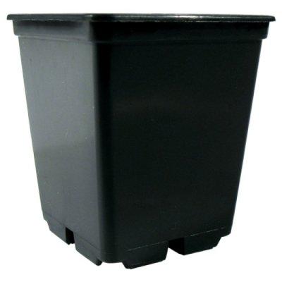 Pflanzentopf 4-eckig 0,25L schwarz - 100er Packung
