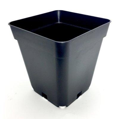 Pflanzentopf 4-eckig 0,69L schwarz - 10er Packung