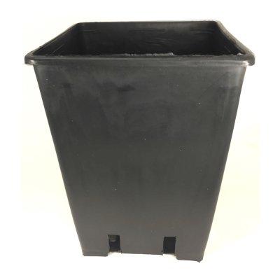 Pflanzentopf 4-eckig 3,6L schwarz - 10er Packung