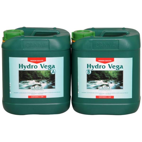 Canna Hydro Vega A+B je 5L Wachstumsdünger für nicht rezirkulierende Wassersysteme