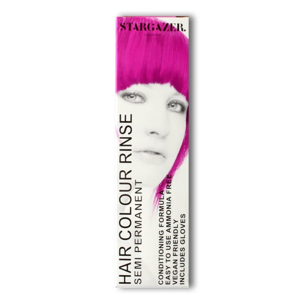 Haarfarbe in pink