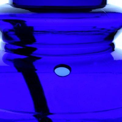 Black Leaf Acrylbong Blau mit Eisfach