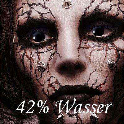 Kontaktlinsen Black Witch 1 Woche, Halloween Zombie Vampir