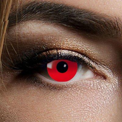 Farbig Rot Kontaktlinsen 1 Woche Halloween Zombie Vampir