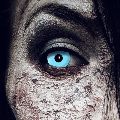 Farbig Blau Kontaktlinsen 1 Woche Halloween Zombie Vampir