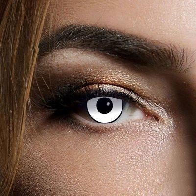 Farbig Schwarz-weiß Kontaktlinsen 1 Woche Halloween...