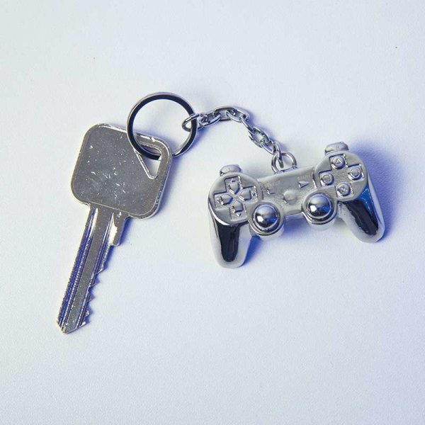 Playstation-Controller 3D Metall Schlüsselanhänger