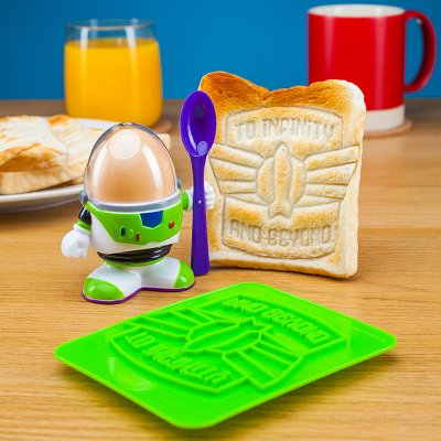 Buzz Lightyear Eierbecher+Toaststempel-Toy Story