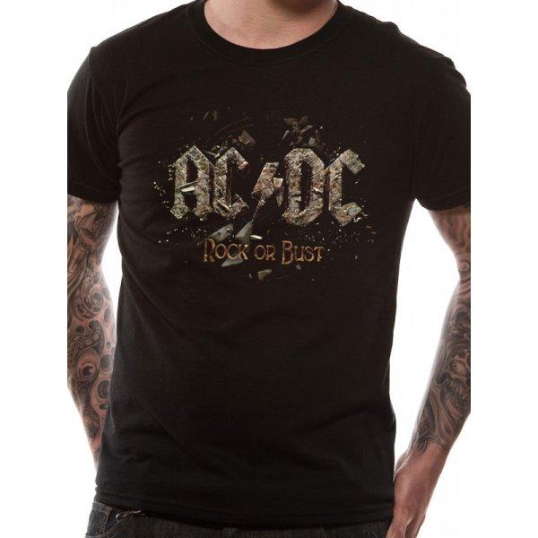AC/DC Shirt  Rock or Bust schwarz