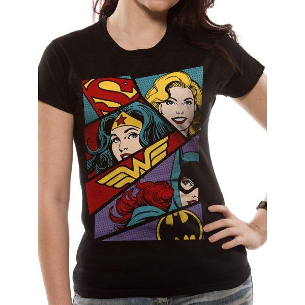 Justice League Frauenshirt  Heroine Art schwarz