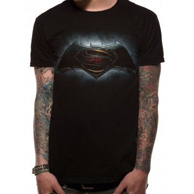Batman vs. Superman Shirt  Logo schwarz