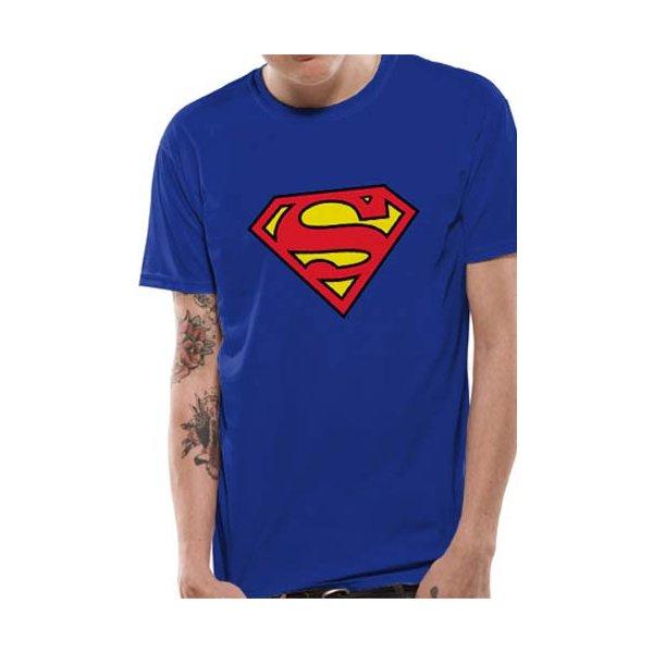 Superman Logo Shirt  blau