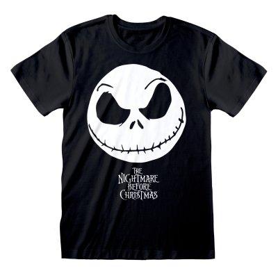 Nightmare before Christmas Shirt  Jack Face schwarz