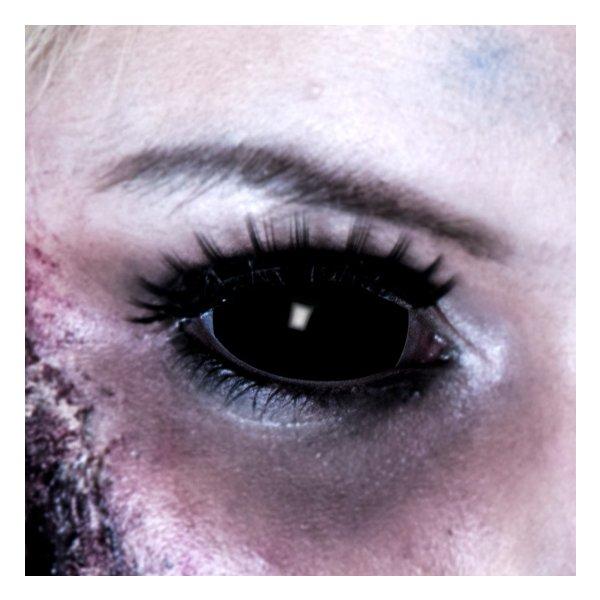 Kontaktlinse mit Sehstärke Sclera Black 6 Monate