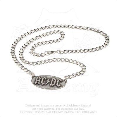 AC/DC Kette mit Anhänger silber Logo Tag
