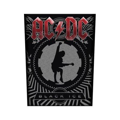 """AC/DC Backpatch """"Black Ice"""" schwarz grau rot"""