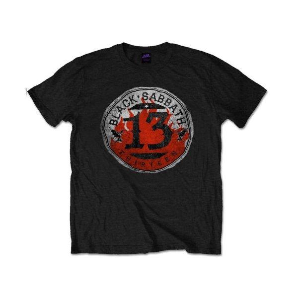 Black Sabbath Shirt 13 Flame Circle
