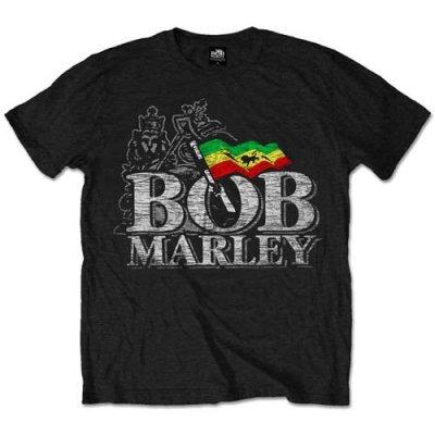 Bob Marley Shirt Distressed Logo