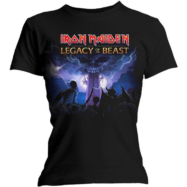 Iron Maiden skinny Frauenshirt Legacy Army