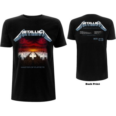Metallica Shirt Master of Puppets Tracks beidseitig bedruckt