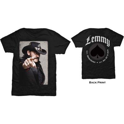 Lemmy Shirt pointing photo beidseitig bedruckt