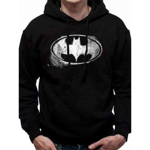 Batman Hoodie Distressed Logo