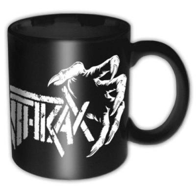 """Anthrax Tasse """"Death Hands"""" schwarz weiß"""