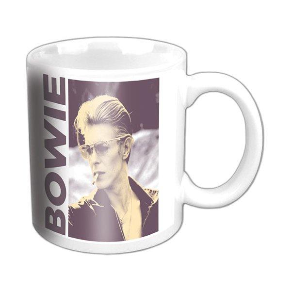 """David Bowie Tasse """"Smoking"""" weiß"""