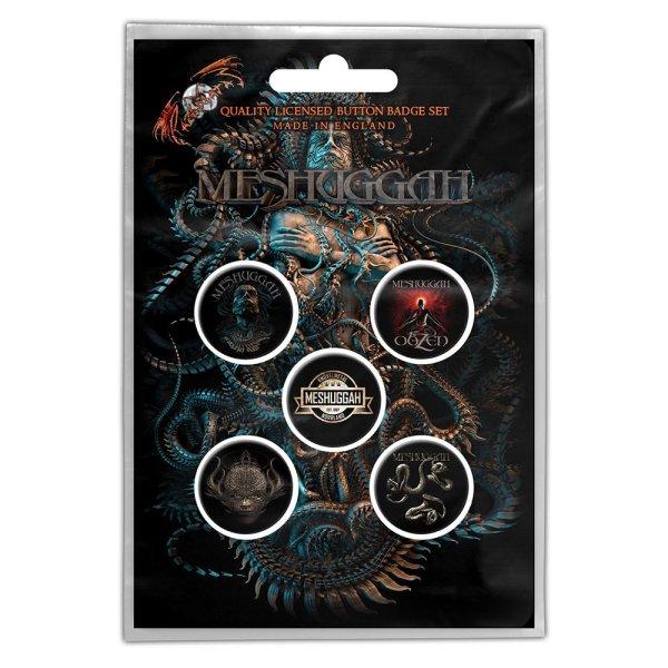 "Meshuggah Button-Set ""violent sleep of reason"" 5Stk."