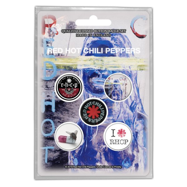 """Red hot chili peppers Button-Set """"by the way"""" 5Stk."""