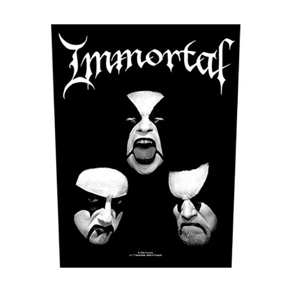 "Immortal Backpatch ""Blashyrkh"" schwarz weiß"