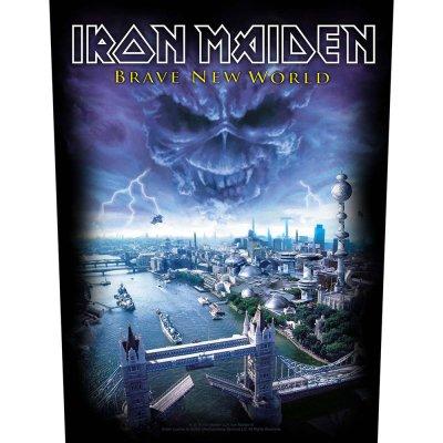 """Iron Maiden Backpatch """"brave new world"""" schwarz..."""