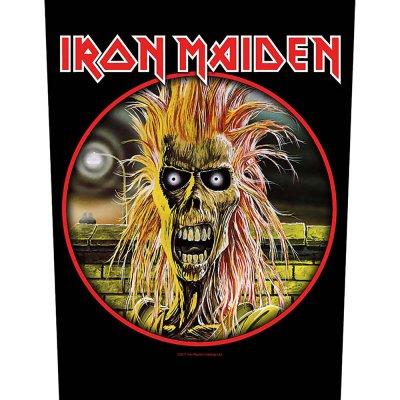 "Iron Maiden Backpatch ""Logo"" schwarz rot"
