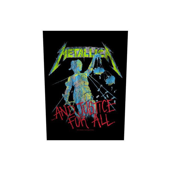 """Metallica Backpatch """"...and justice for all"""" schwarz bunt"""