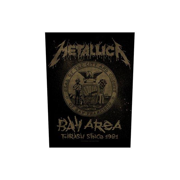 "Metallica Backpatch ""bay area thrash"" schwarz gold"