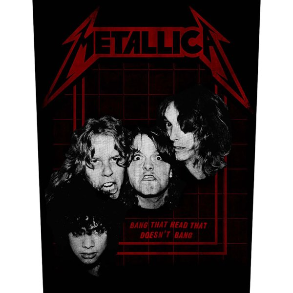 "Metallica Backpatch ""bang that head"" schwarz rot"