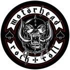 """Motörhead runder Backpatch """"Biker"""" schwarz weiß"""