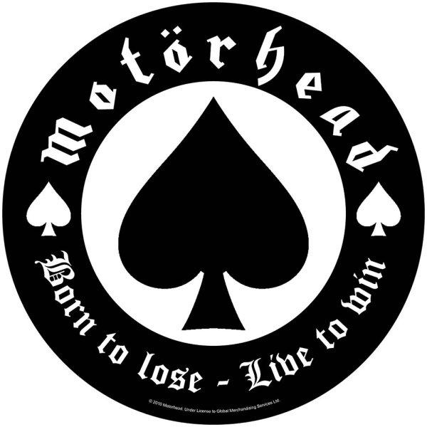 """Motörhead runder Backpatch """"Born to lose"""" schwarz weiß"""