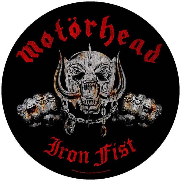 "Motörhead runder Backpatch ""Iron Fist"" schwarz rot"